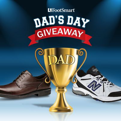 Enter one deserving dad into our #DadsDayGiveaway today for their chance to win new shoes + a gift set.
