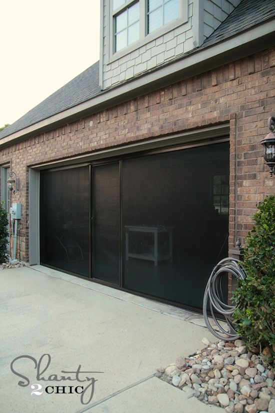 Check Out My New Garage Screen So Awesome Garage Screen Door Diy Screen Door Garage Decor