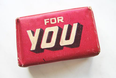 FOR YOU (Vintage Polish soap packaging)
