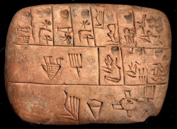 Quelques pièces éparses ont été pareillement exhumées plus au Nord, à Djebel Aruda, Habuba Kabira et Tell Brak. Ce phénomène de diffusion, dans une région dominée par la culture urukéenne, atteste que l'écriture s'inscrit dans le grand courant des découvertes qui entourent l'apparition de l'État.
