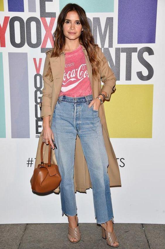 Miroslava Duma at Milan fashion week AW16 in February 2016.