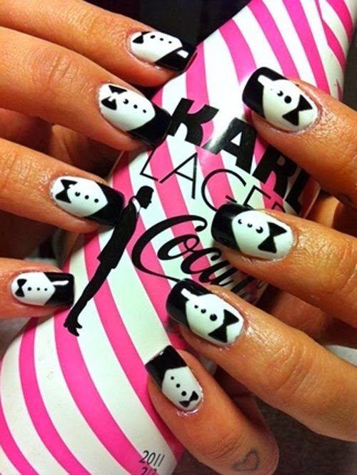 best nail art ideas 2014 with 43 photo. Tuxedo wedding nails