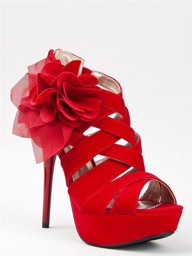 Amazon.com: Qupid DAZZLING-48 Rose Crosage Strappy Platform High Heel Stiletto Sandal ZOOSHOO: Shoes