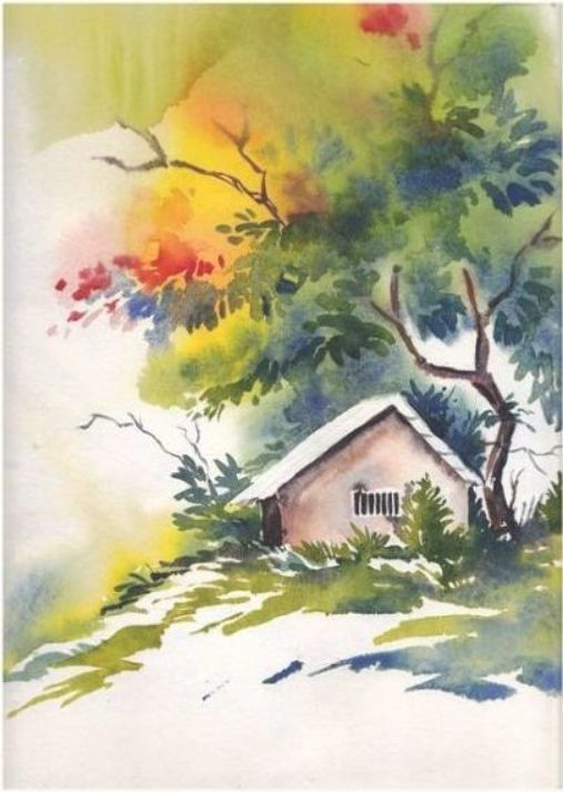 Landscape Art Watercolor Watercolour 42 Ideas Landscape Art
