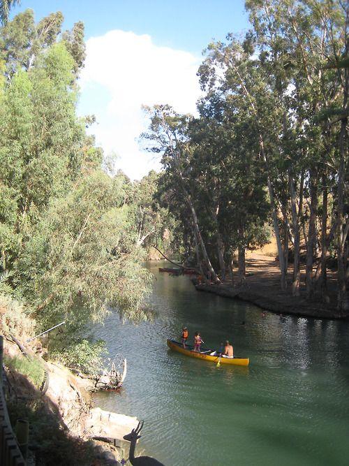 Canoeing in Israel on the Jordan river.