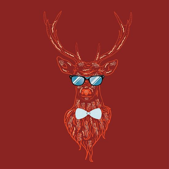 Deer hipster in glasses 4