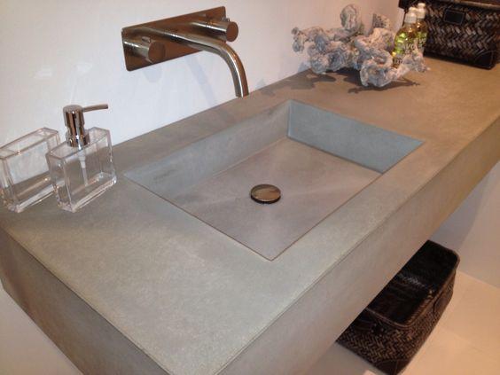 brugman keukens magazine : Balsa beton wasbak bij Brugman Keukens ...