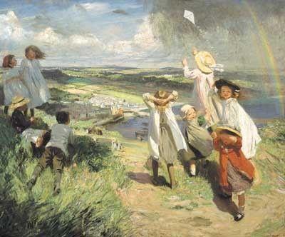 Αποτέλεσμα εικόνας για Dame Laura Knight: Flying the Kite (1910)