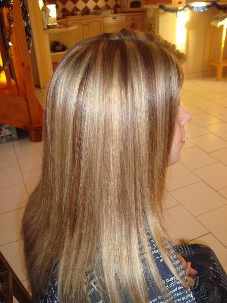 Apr s balayage blond et blond fonc marron dor balayage - Balayage miel dore ...