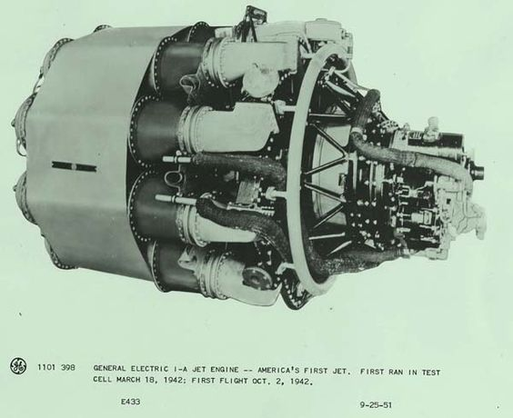 #GE-1A jet engine- America's first #jet engine. First flight was on October 2, 1942