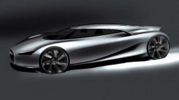 Jaguar C-X75 Concept Design Sketch