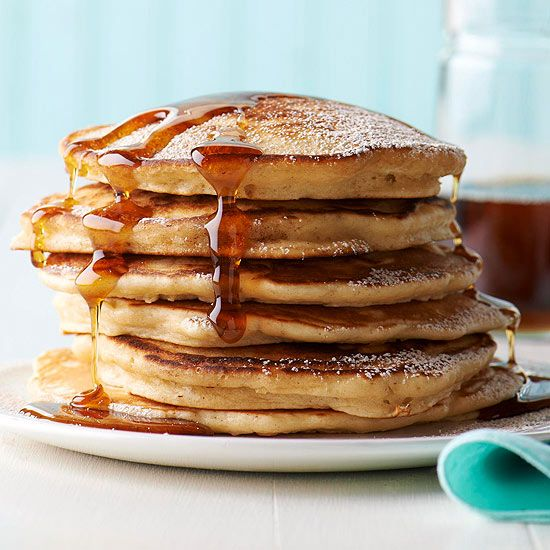 Delicious Pancake Recipes Straight From The Better Homes Gardens Kitchen Eggnog Pancakes Food Recipes