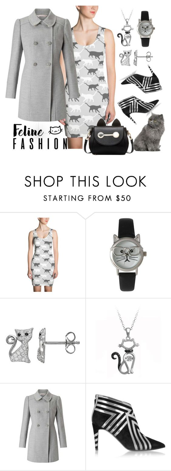 """Feline Style"" by dogzprinted ❤ liked on Polyvore featuring Olivia Pratt, Miss Selfridge, Pierre Hardy and BeiBaoBao"