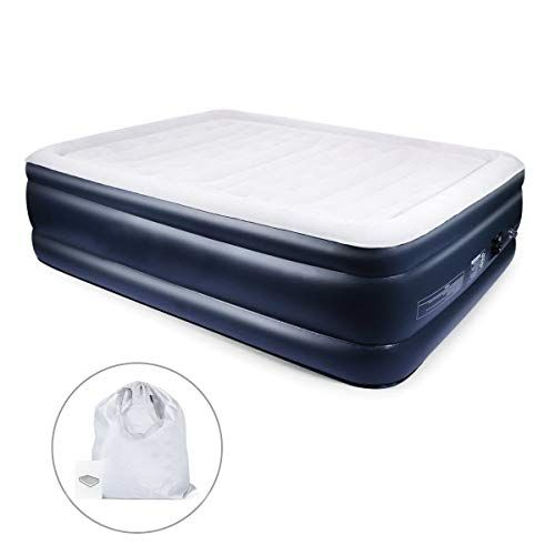 Airbed Electric Inflatable Mattress with Built-In Air Pump Queen Raised Rest Mat