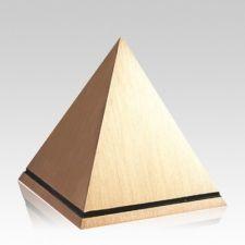 Pyramid Bronze Cremation Urn