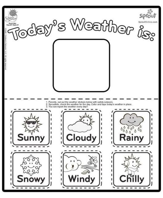 Types of Weather (With images) | Preschool weather