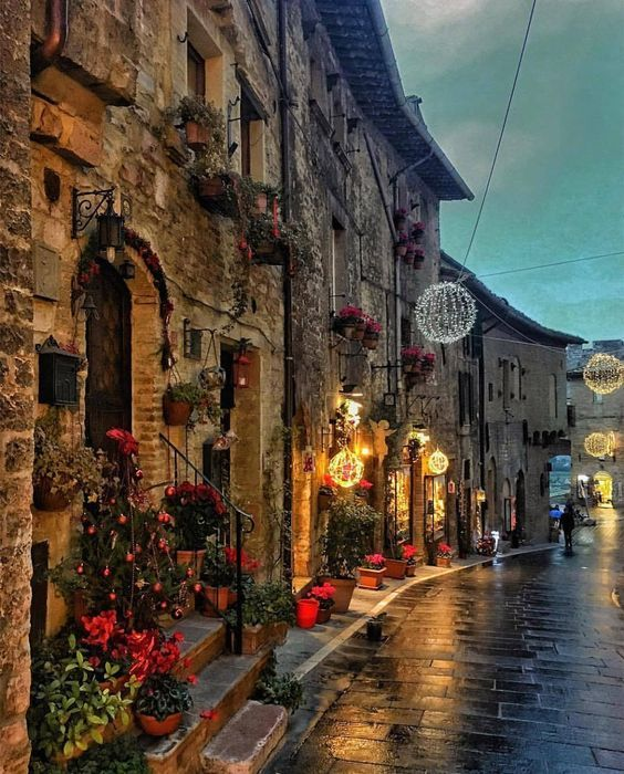 The charming town of Assisi, Umbria, Italy