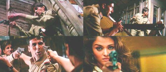 "Aishwarya in ""Khakee"" {2004} where she played a negative role."