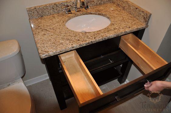 New  Bathroom Vanities  Narrow Depth Bathroom Vanity With Drawers And