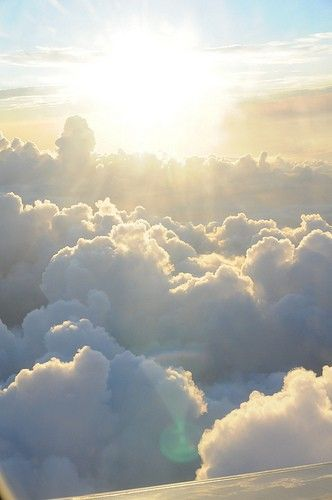 Up, above the clouds