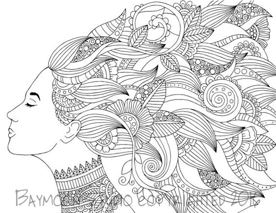 Boho Beauty Adult Coloring Pages