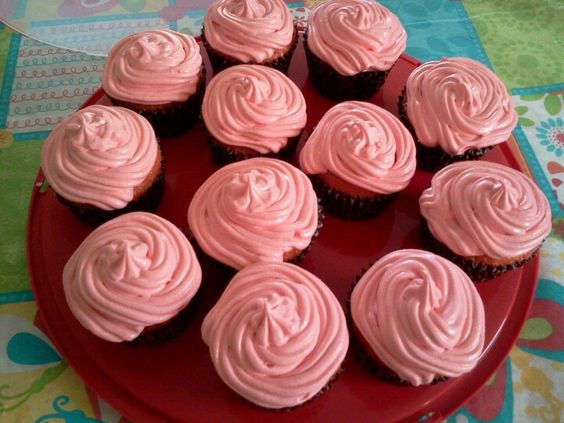 Cherry cupcakes. Made these yesterday...