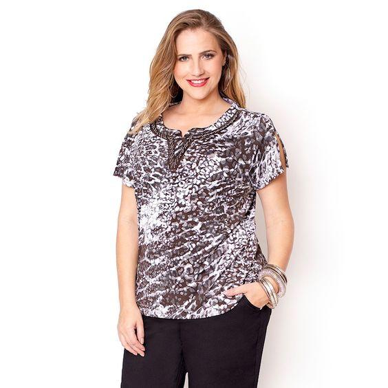 Blusa Plus Size Sarita » Nova Coleção