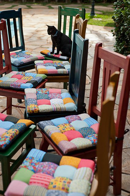 Almofadas para cadeira | Pillow chair patchwork: