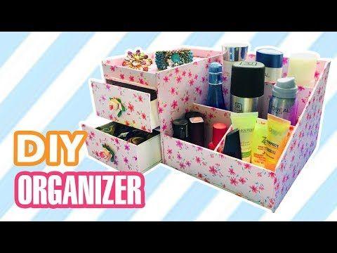 Diy Desk Organizer Diy Makeup Jewelry Organizer Box Youtube