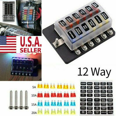 Ad Ebay Link 12way Auto Car Power Distribution Blade Fuse Holder Box Block Panel Board 32v Us Car Audio Ebay Audio Amplifier