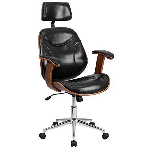 Executive Ergonomic Wood Swivel Office Chair Jpg In 2020 Leather Office Chair Wood Office Chair Swivel Office Chair