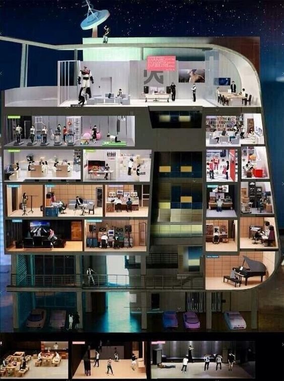 yg entertainment dorms...