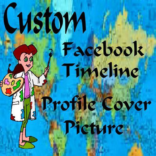 Custom Facebook Timeline Profile Cover Picture SB55 Graphics | eBay