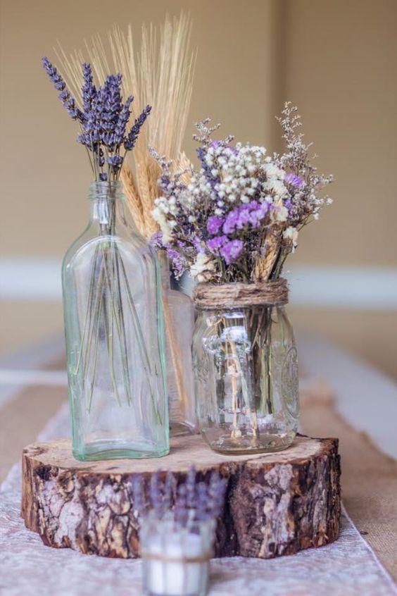 Dried Lavender Centerpieces