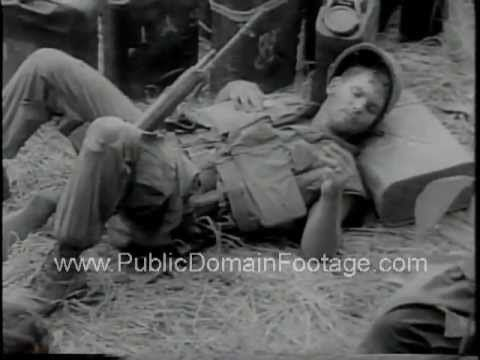 U.S. soldiers pinned down in heavy combat in Vietnam War Newsreel www.PublicDomainFootage.com. Video is about 2 minutes long.