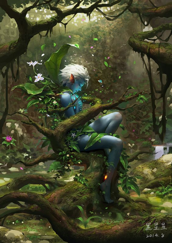 [Guild Wars 2]  Sylvari, InfiniteCube  Studio on ArtStation at https://www.artstation.com/artwork/guild-wars-2-sylvari