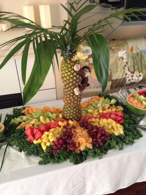 Curious George Birthday Fruit Design