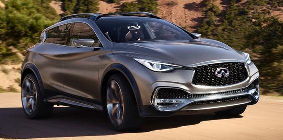 CONCEPT-CAR. Lorsqu'une Mercedes GLA s'habille à la mode Infiniti, on obtient un QX30 Concept. La coopération entre Renault-Nissan et Daimler va bien, merci.