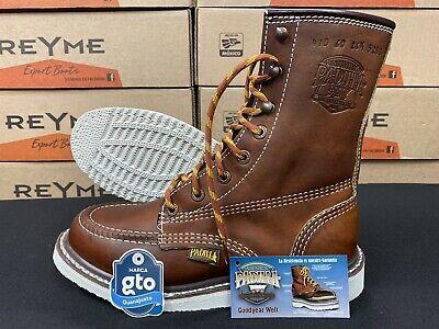 Men/'s work boots Waterproof Oil Slip Resistant Leather Steel Toe