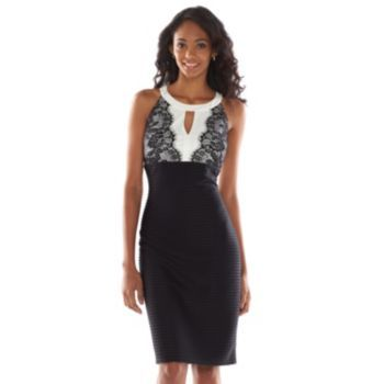 Suite 7 Lace Textured Sheath Dress - Women's