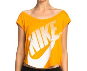 Nike Women's Signal Cropped Tee - Orange