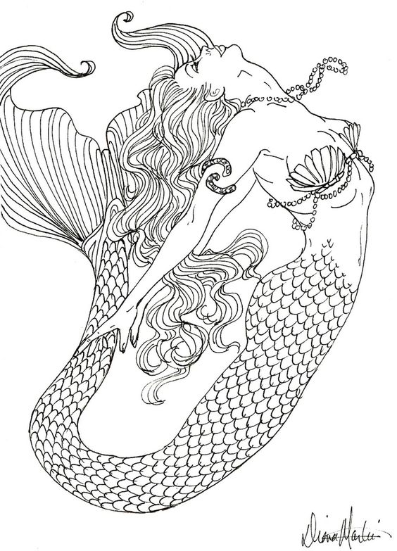 realistic mermaid coloring pages coloring pages coloring pinterest coloring martin o