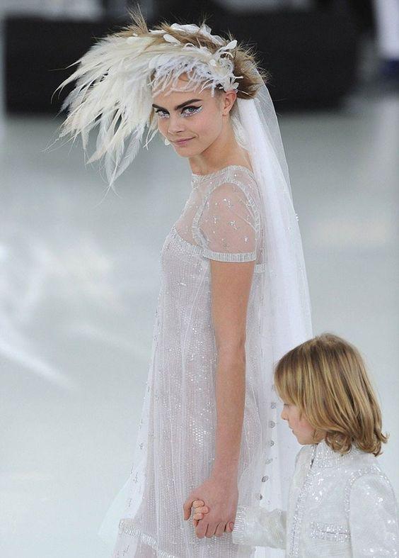 Bride Inspiration: Cara Delevingne Chanel Haute Couture.