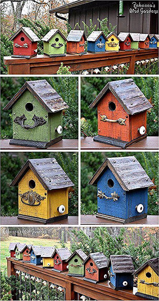 Les Oiseaux Sont Benefiques Pour Votre Jardin Chaque Fois Que Vous Avez A Completer Est D Utiliser Ces Bird Houses Painted Bird House Feeder Birdhouses Rustic
