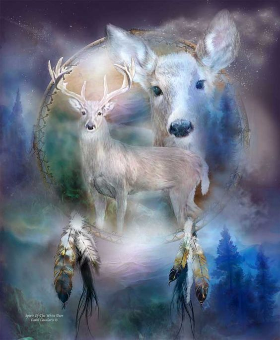 Spirit Of The White Deer.  White Deer, Symbol of prophecy, Messenger of change, Telling us to follow our path of growth, With an open heart and pure spirit, And it will lead us in a direction, Beyond our wildest dreams.