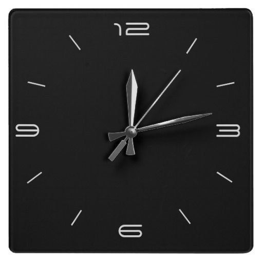 Black With White Numerals Kitchen Clock Plain Colorful Clocks Pinterest And Kitchens