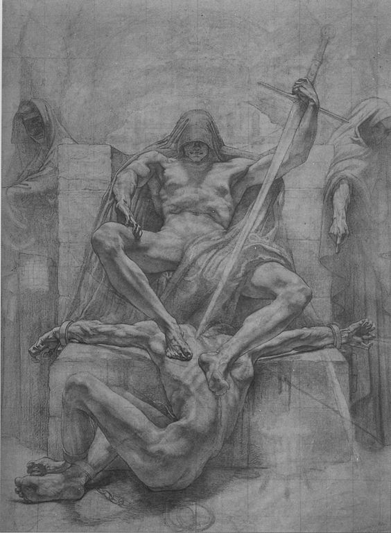 Untitled preparatory sketch by Jean Delville, for the Palais de Justice in Brussels, c.1911-14: