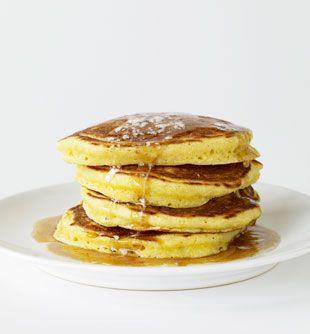 Cornmeal Buttermilk Pancakes: Recipe: bonappetit.com