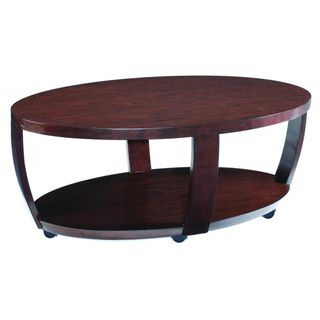 Sotto Sienna Wood Oval Open Cocktail Table   Overstock.com Shopping - Great Deals on Magnussen Home Furnishings Coffee, Sofa & End Tables