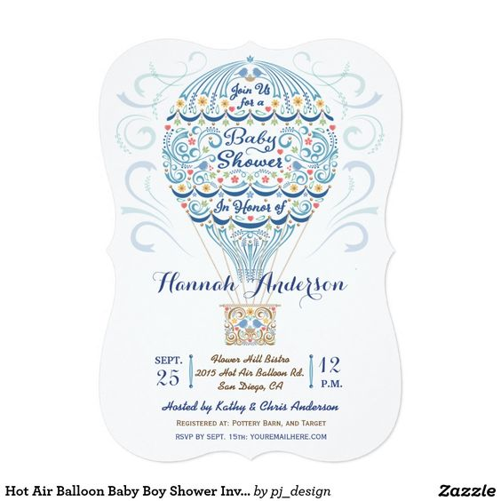 hot air balloon baby boy shower invitations baby boy shower showers